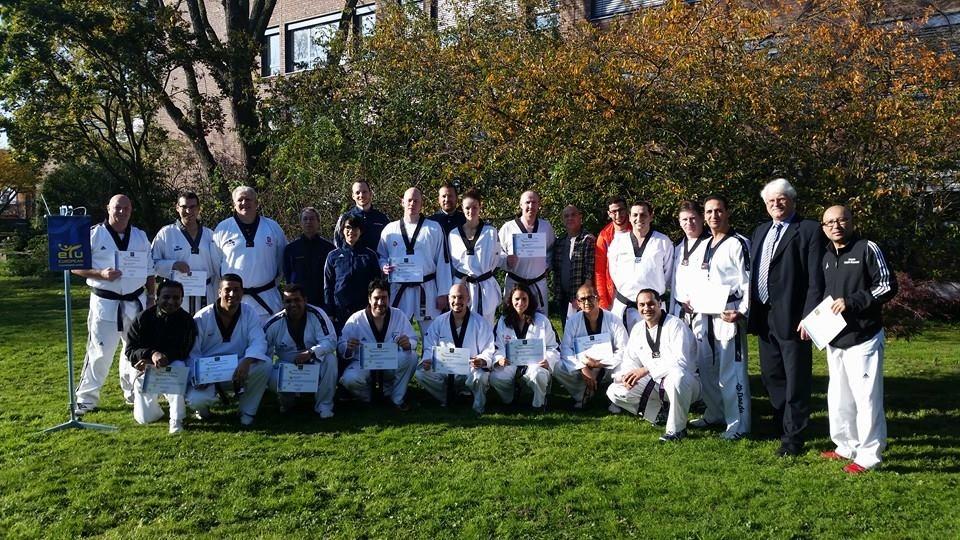 Nederlandse coaches op ETU coach seminar Dusseldorf 2014