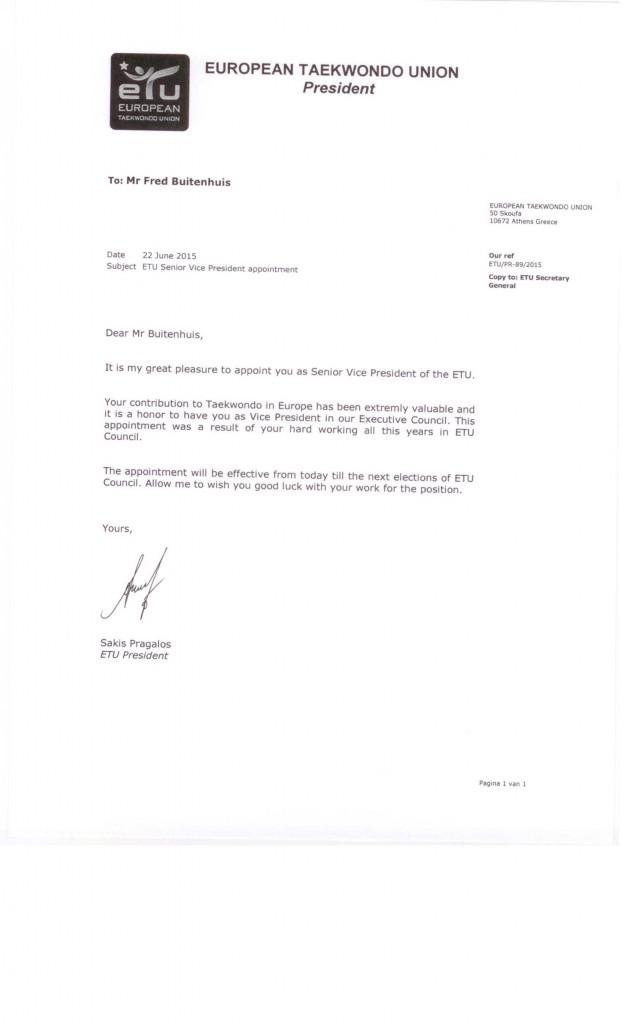 ETU appointment