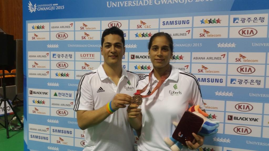 Reshmie Oogink en coach Manni Zareei