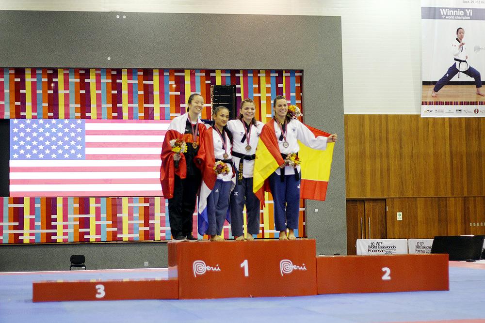 Soraya Wahjudi - bronzen medaille WK Poomsae 2016